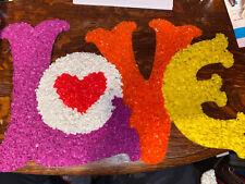 Vintage Melted Plastic Popcorn Art Love Decoration Valentine