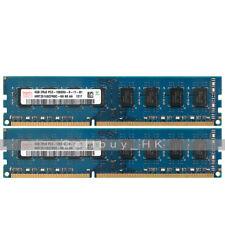 Hynix 8GB 2X4GB 2RX8 PC3-10600 DDR3-1333MHz Non-Ecc 240pin Dimm Desktop Memory