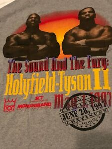 The Sound And The Fury, Holyfield-Tyson II MGM Jun 28,1997 Las Vegas T Shirt