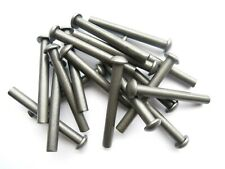 Stahl blank 100x DIN 660 Halbrundniete 10x20