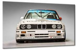 Leinwand Bild BMW DTM Rennwagen 3  3er Rennwangen Sportwagen Design Klassiker