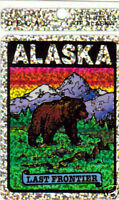 Alaska Prism decal Sticker Alaska the Last Frontier - Grizzly Bear & Mountains