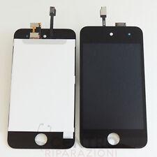 TOUCH SCREEN VETRO + DISPLAY LCD RETINA SCHERMO APPLE IPOD TOUCH 4 NERO BLACK