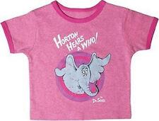 Dr. Seuss Horton Raspberry  Heather Vintage Short Sleeve Ringer Tee 24 months