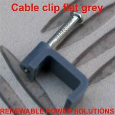 25 X CABLE CLIPS FLAT GREY 6mm T&E 6 X 12mm TOUGHENED HARDENED NAIL BRAND NEW