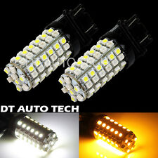2X 3157 Dual Color Switchback White/Amber LED Turn Signal Corner Light Bulbs