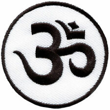 Aum om infinity hindu hindi hinduism yoga applique iron-on patch Small S-2