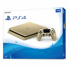 NEW Sony PlayStation 4 Slim 1TB Gold Limited Edition Gaming Console PS4 Bundle