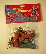 Vintage 1980's Sealed Package of 10 Joy Toy Royal Knights and Armored Horses USA