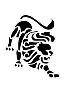 ZODIAC SIGN LEO/LION STENCIL A4 OR A5 REUSABLE 180 MICRON