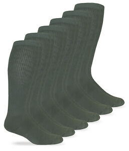 Jefferies Socks Mens Merino Wool Military Combat Over the Calf Boot Socks 6 Pair