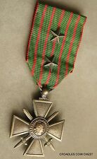FRENCH MEDAL GALLANTRY WW1 1914-1918 ORIGINAL RIBBON UN NAMED #WQE10