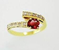 14KT YELLOW GOLD AWESOME! LADIES RUBY AND DIAMONDS RING.(22013R)