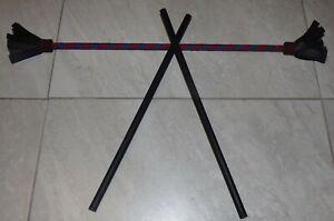 """Blue & Red 27"""" Juggling Devil Sticks w/ 18"""" Hand Sticks Toys Games Unbranded"""