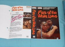 vintage VISTA HOME VIDEO advertising brochure FISTS OF THE WHITE LOTUS