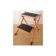 "Step Stool 17"" 2-steps Home Ladder Orange Kitchen Office Tool SGC-334OR Azumaya"