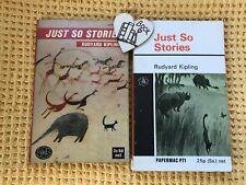 2 Vintage Rudyard Kipling Illustrated Just So Stories 1964