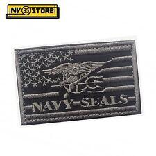 Patch Ricamata Bandiera US Navy Seals 8 x 5 cm G Militare Softair con Velcrogrip