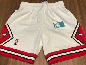 MITCHELL & NESS HWC NBA 1997-98 MICHAEL JORDAN CHICAGO BULLS SHORTS WHITE RED L