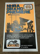 NHRA LIONS Vintage Poster Drag Racing 22x14 Top Fuel Funnycar