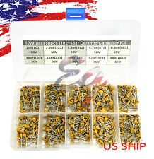 10 Types x 50 1nF~68nF (102~683) Monolithic Ceramic Capacitor Assorted kit box
