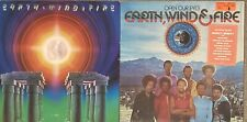 Four Earth Wind & Fire vinyl LPs I Am, Open Our Eyes, Last Days, Head to the Sky