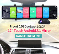 """12"""" Android 8.1 Car DVR Dash Cam Front Rear View Video Mirror Driving Recorder"""