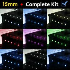 More details for 10 / 20 x led 15mm round garden decking deck kitchen plinth lights lighting kit