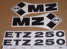 ETZ,ETZ 250,SCHWARZ,ohne Rand,MZ,Aufkleber,Aufklebersatz,Seitendeckel,Tank,DDR
