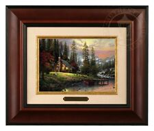 Thomas Kinkade A Peaceful Retreat - Brushwork (Burl Frame)