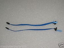"Genuine Dell Blue 11"" SATA Hard Drive Data Cable Right Angle (LOT OF 2) MK524"