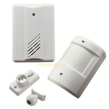 Infrared Wireless Doorbell Alarm System Gate Alert Motion Sensor with Receiver