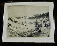 PETER WINSLOW MILTON 1963 SIGNED - Numbered PANORAMA I Etching Framed FREE SHIP