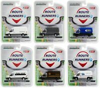 ROUTE RUNNERS SERIES 1, 1/64 DIECAST BY GREENLIGHT 6 DIFFERENT MODELS