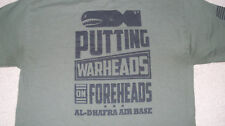 ARMY AIR FORCE JBER Alaska PUTTING WARHEADS ON THEIR FOREHEADS T-Shirt Size MED