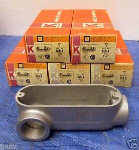 "LOT (5) Killark 1 1/4"" LB for Threaded Rigid Steel or Aluminum Conduit OLR-4"