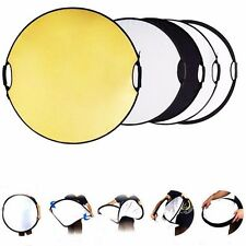 "24"" 60CM 5-in-1 Photo Studio Multi Disc Photo Collapsible Light Reflector Handle"