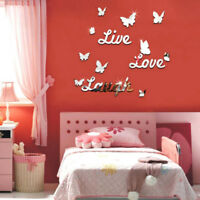 QA_ Live Laugh Love Quote Removable Wall Stickers Mirror Decal DIY Room Decor