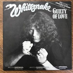 Whitesnake 'Guilty Of Love' Single 1983