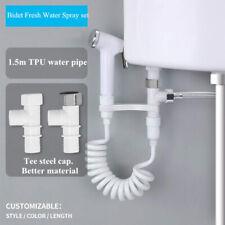 Toilet Seat Attachment Fresh Water Pull Tube Bidet Spray Set Non-Electric Clean