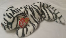 TY Beanie Babies, Blizzard the white tiger - retired 1998 - with red hang tags