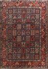 Garden Design Semi Antique Bakhtiari Area Rug Hand-knotted Oriental Carpet 10x12
