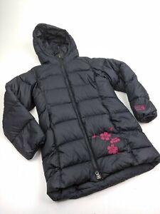 YOUTH GIRLS Mountain Hardwear Elongated Black Down Puffer Jacket Sz M