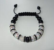 SA04 - Shamballa Armband - NEU - Weiß Strass - Perlen Wickelarmband Liebe Love 2