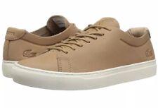 LACOSTE SIZE 11 STYLE: L.12.12 Unlined Leather Sneaker TAN NWB $125