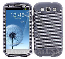 KoolKase Hybrid Silicone Cover Case for Samsung Galaxy S3 i9300 - Carbon Fiber