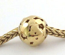 Authentic Trollbeads 18k Gold Spot Bead Charm 21421 New