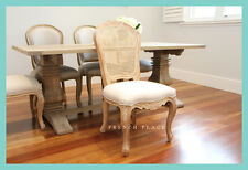 **IN STOCK** NEW French Provincial rattan back linen dining chair