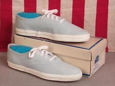 4a4bb059391 Vintage 1960s Keds Champion Oxford Canvas Sneakers Sky Blue NOS Shoes w Box  Sz.