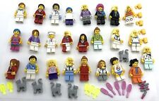 LEGO 25 NEW ASSORTED WOMEN AND GIRLS MINIFIGURES FIGURES WITH ACCESSORIES